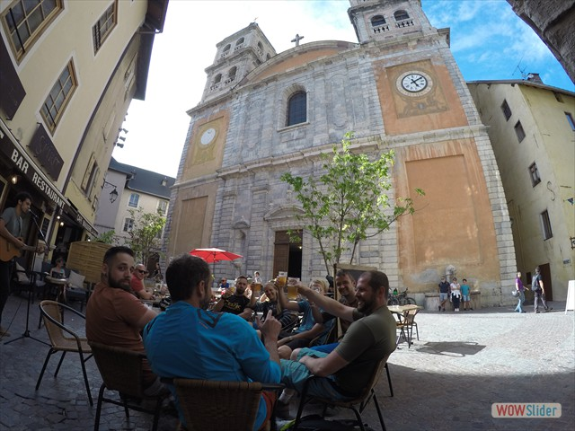 Post ride beers - Briancon