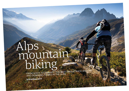 alps mountain biking by Steve Mallett
